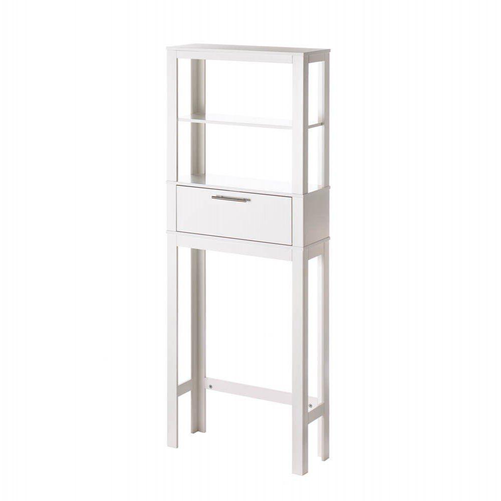 Vogue Bathroom 2 Shelf Space Saver White Storage Cabinet ...