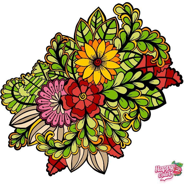 Happy Color в 2020 г | Раскраски, Цветы