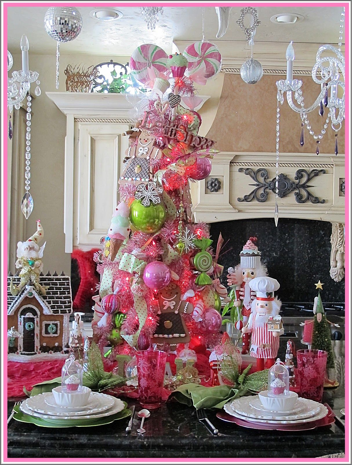 Christmas Candy Tablescapes - Purple Chocolat Home Sugarplum Tree Tablescape