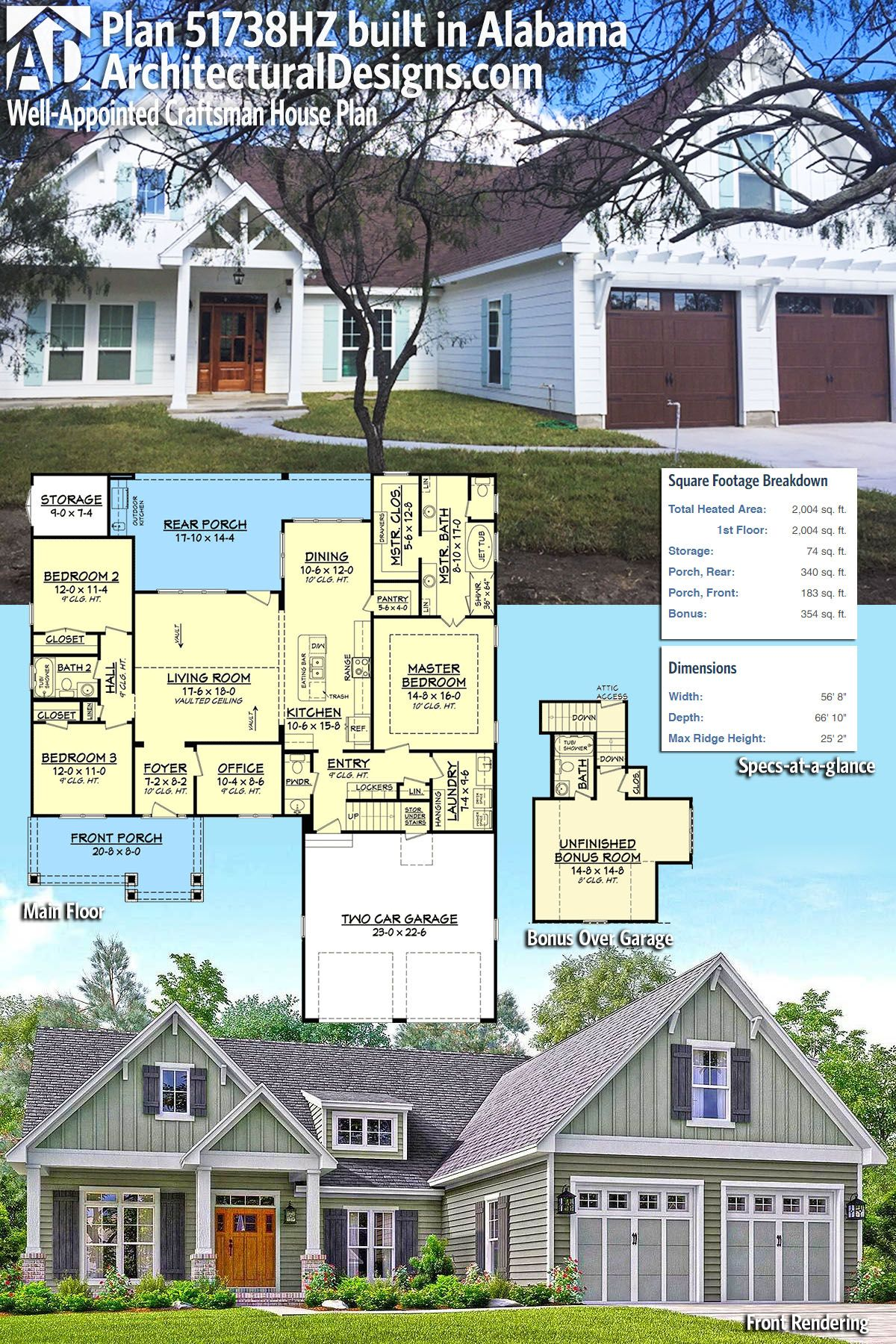 Plan 51738hz Well Appointed Craftsman House Plan Craftsman House Craftsman Style House Plans House Plans