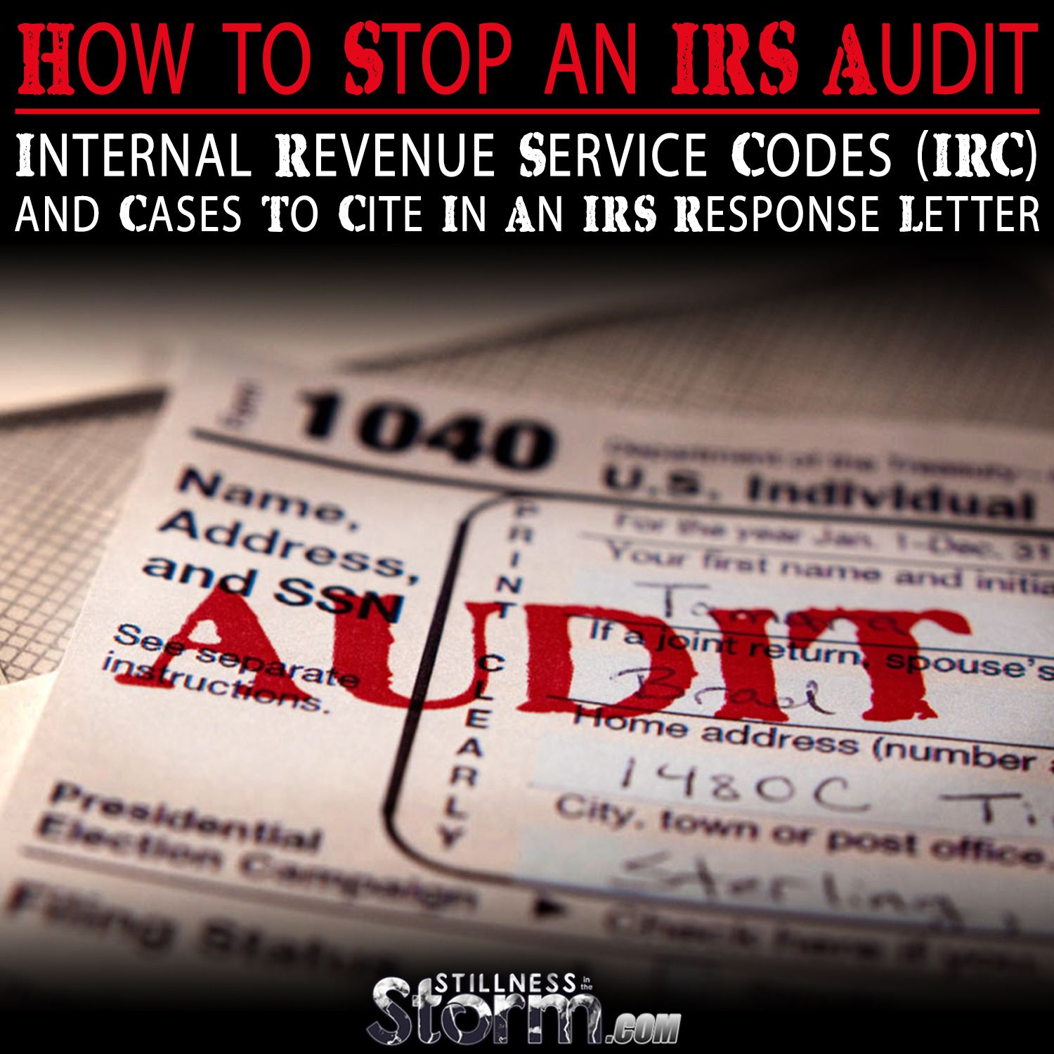 How to Stop an IRS Audit (With images) Internal revenue