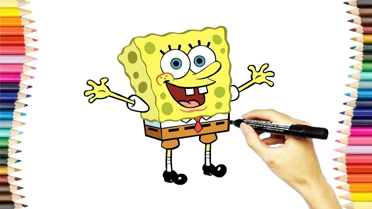 تعلم رسم وتلوين كرتون سبونج بوب سكوير بانتس للاطفال كرتون اطفال Spongebob Pics Free Download Pictures Coloring Pages