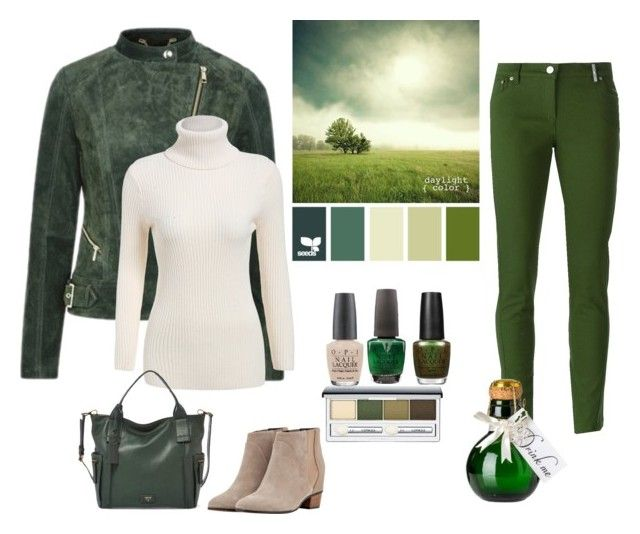 green#86 by bidlekerika on Polyvore featuring polyvore fashion style Kenzo Golden Goose Emerson Clinique OPI clothing