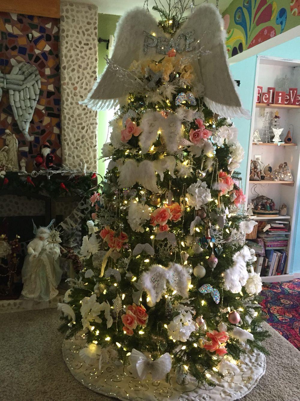 Angel Wings Christmas Tree Christmas Tree Angel Christmas Tree Themes Christmas Angels