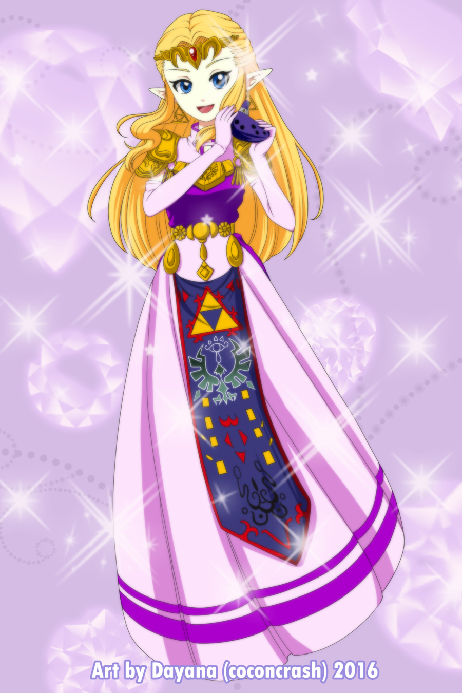 Commission Princess Zelda Oot By Coconcrash Princess Zelda