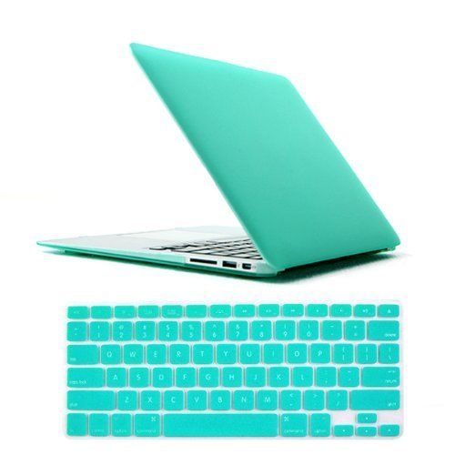 "iClover® Laptop Rubberized Hard Cover Case Keyboard Skin For Apple MacBook Air 11 inch 11.6'' Frosted Matte Rubber Coated Rubberized See Thru Hard Snap On Case for Apple 11.6"" inch Macbook Air -Silicon Keyboard Cover - Clear LCD Screen Protector -Ship From US (Tiffany Blue):Amazon:Cell Phones & Accessories"