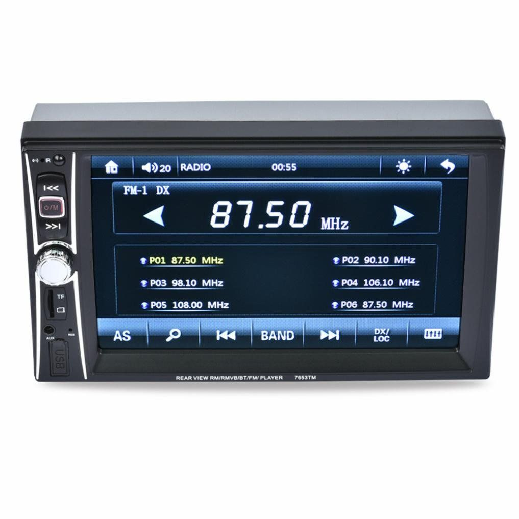 7/'/' HD 2DIN Bluetooth Touch Screen Car Stereo Radio MP5 Player USB//AUX//TF//FM US