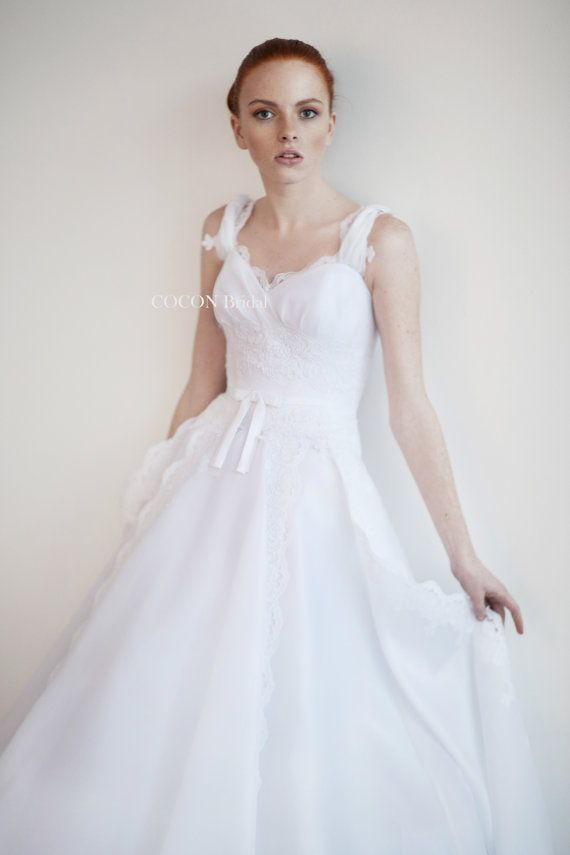 Wedding dress Romantic gown Garden Wedding Wedding by CoconBridal ...