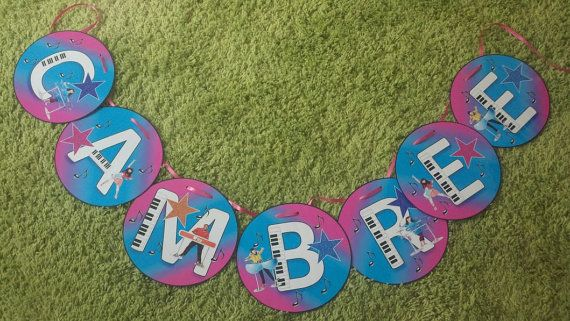 The Fresh Beat Band Personalized Name Banner for by brightness23, $14.99