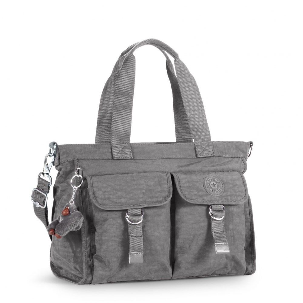 Kipling New Elise Schoudertas Celo Grey