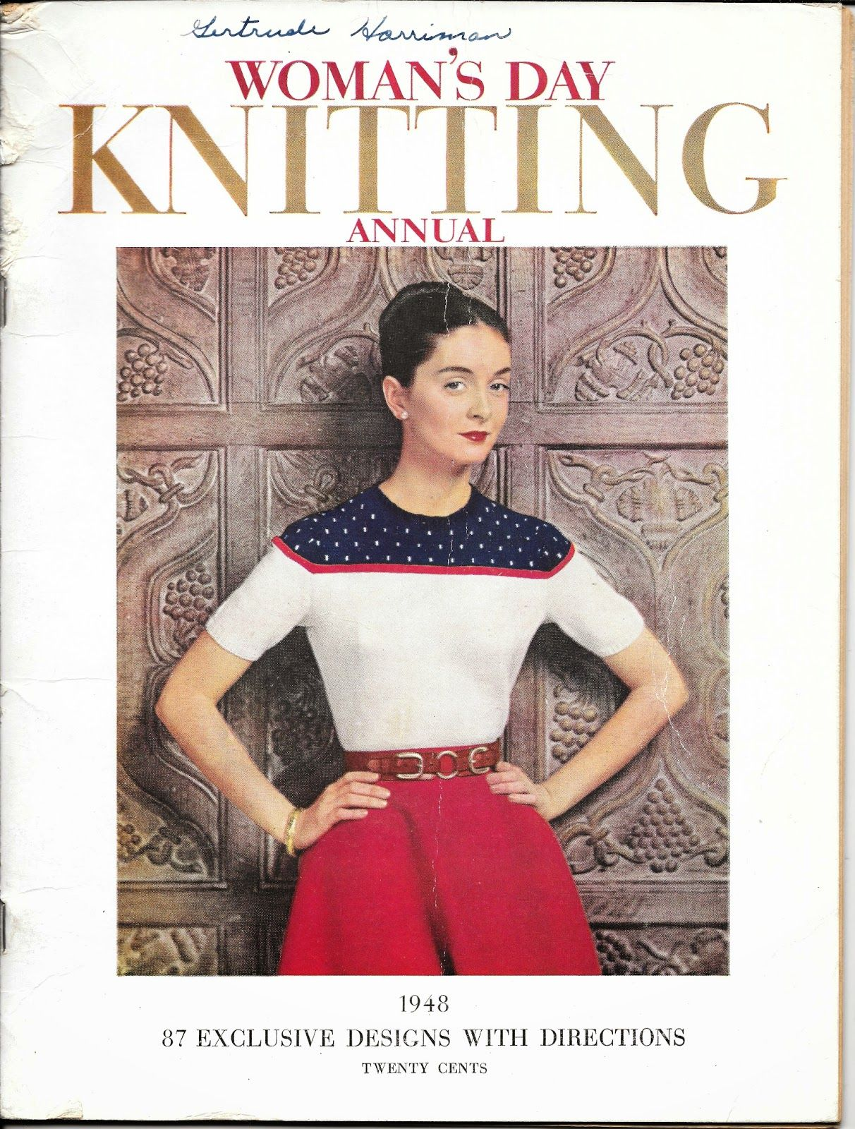 03a306dc94a8f9 Free Pattern Friday - Polka-Dot Sweater and a pair of cozy mitts ...