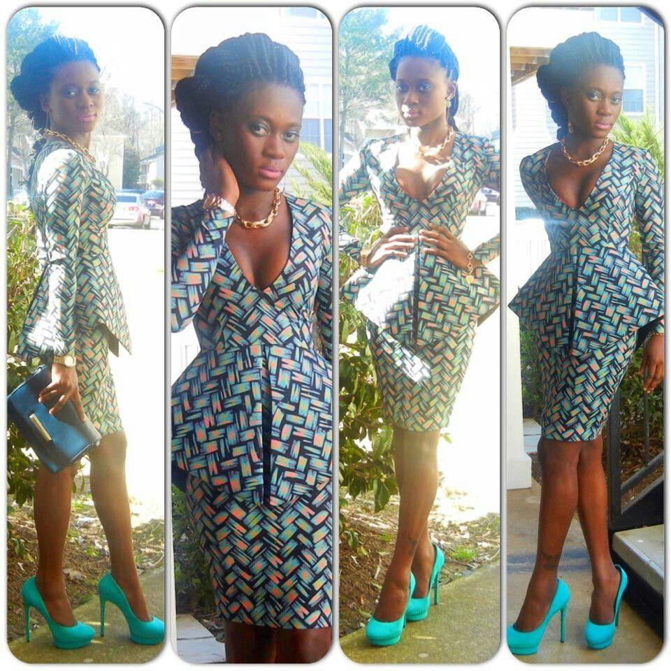 Patterned Peplum Latest African Fashion African Prints African Fashion Styles Africa African Print Dresses African Fashion Designers African Fashion Modern