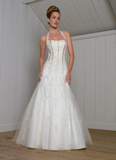 Corset Halter Top Wedding Dress