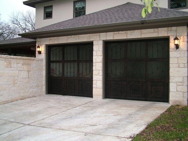 Rock Work Around Garage Doors Low Pitch Roof Rock Pinterest