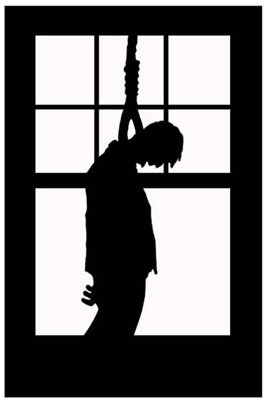 Scary Hanging Silhouette Prop