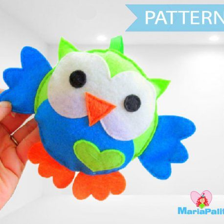 Felt Owl Sewing Pattern A325 | Owl sewing patterns, Felt owls and ...