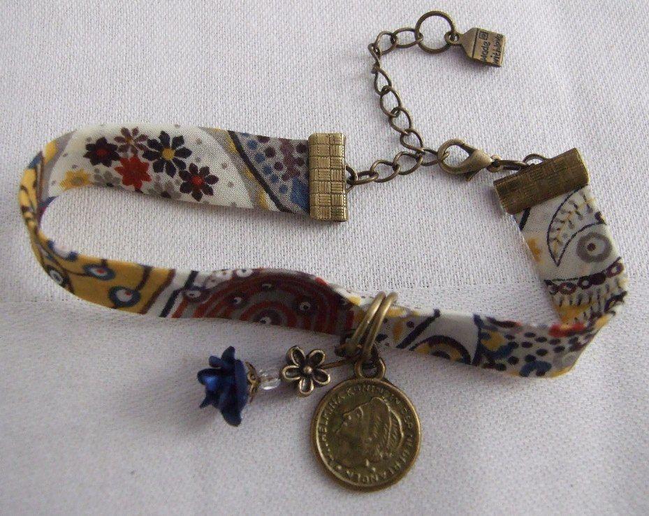 DIY: Retro Vintage Bracelet pulsera retro vintage whole tutorial in:  http://lavieendiy.blogspot.fr/ https://www.facebook.com/DIYalafrancesa