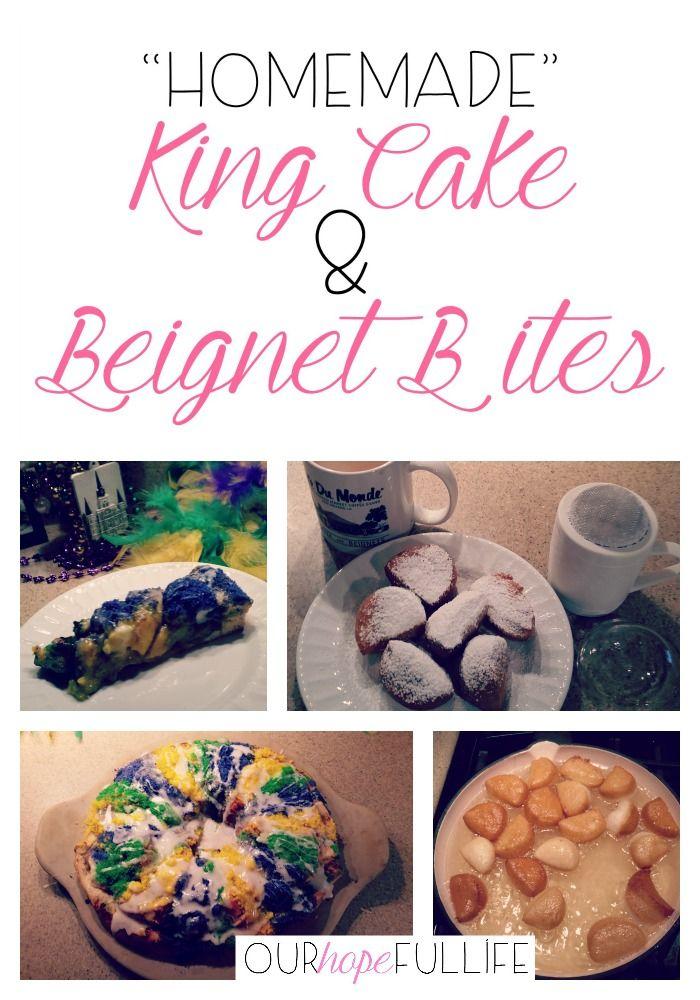 """""""Homemade"""" King Cake & Beignet Bites"""