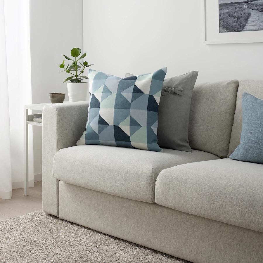 "SVARTHÖ Cushion cover, green/blue, 20x20"" IKEA in 2020"