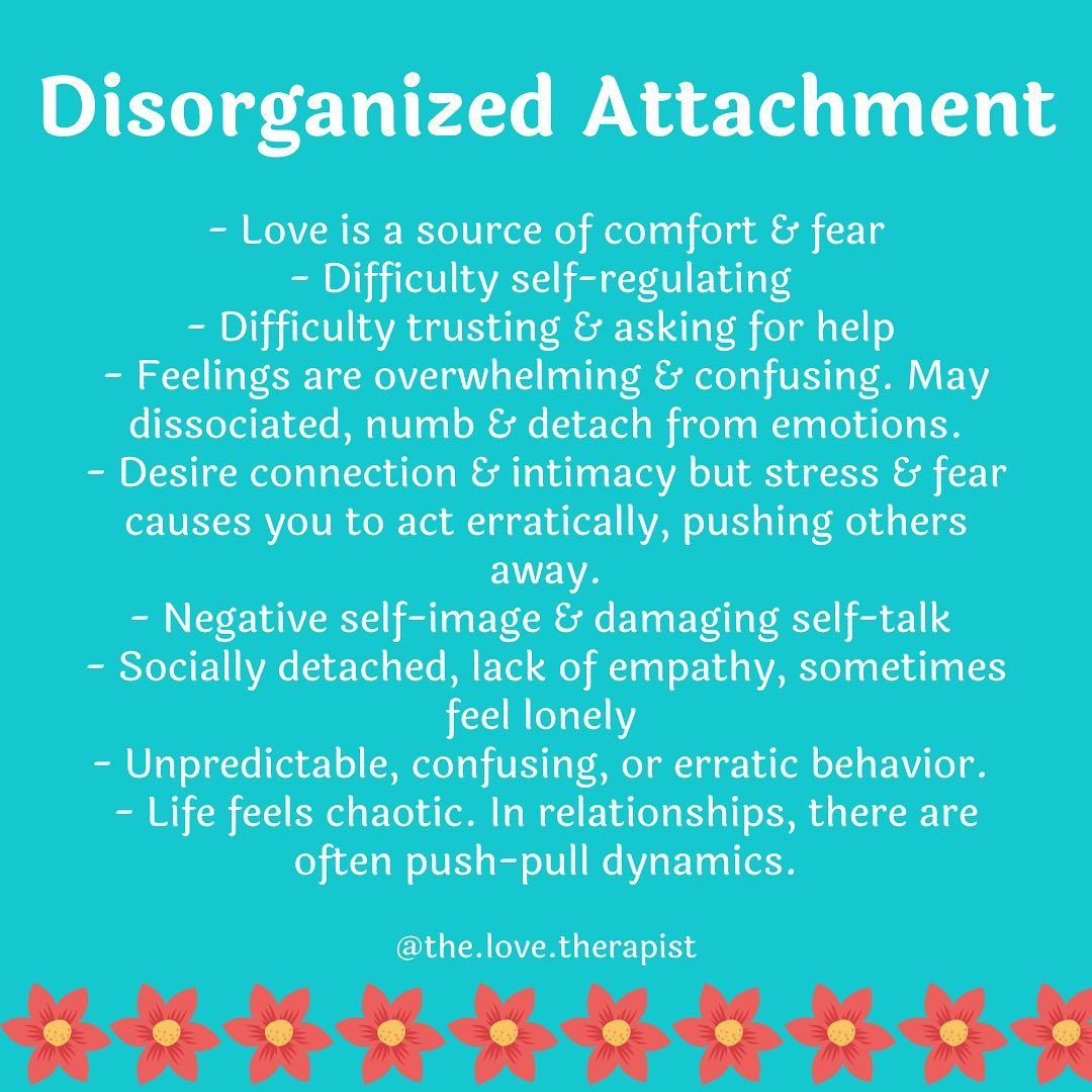 Jordan Green Lcsw On Instagram The Key For Disorganized Attachment St Disorganized Attachment Disorganized Attachment Style Attachment Styles