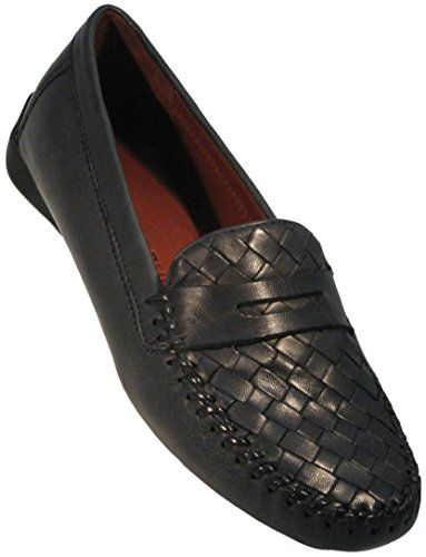 7d0cc7b9940 Robert Zur Women s  Petra  Woven Plug Moccasin in Navy (9 M)    Learn more  by visiting the image link.