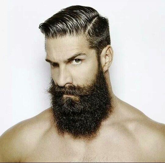 Regard Cheveux Homme Barbe Sans Moustache Mode Barbe