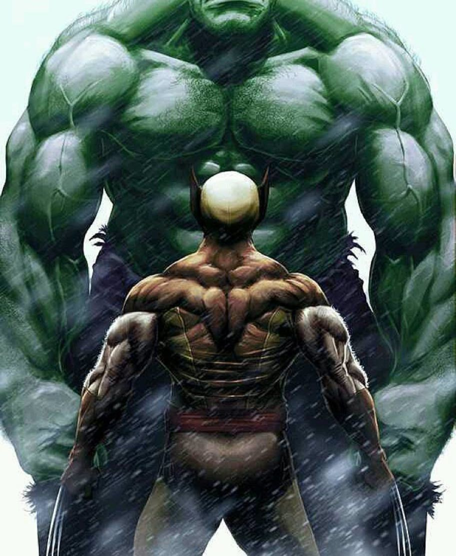 wolverine vs hulk wolverine cómic cómics marvel