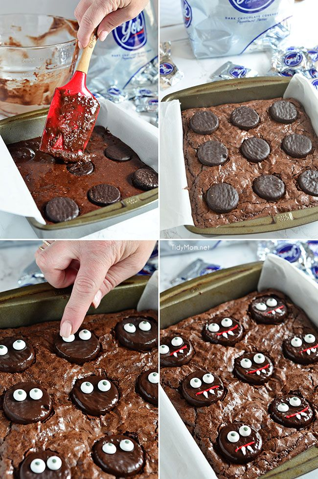 vampire brownies are an easy fun mint brownie treat for halloween