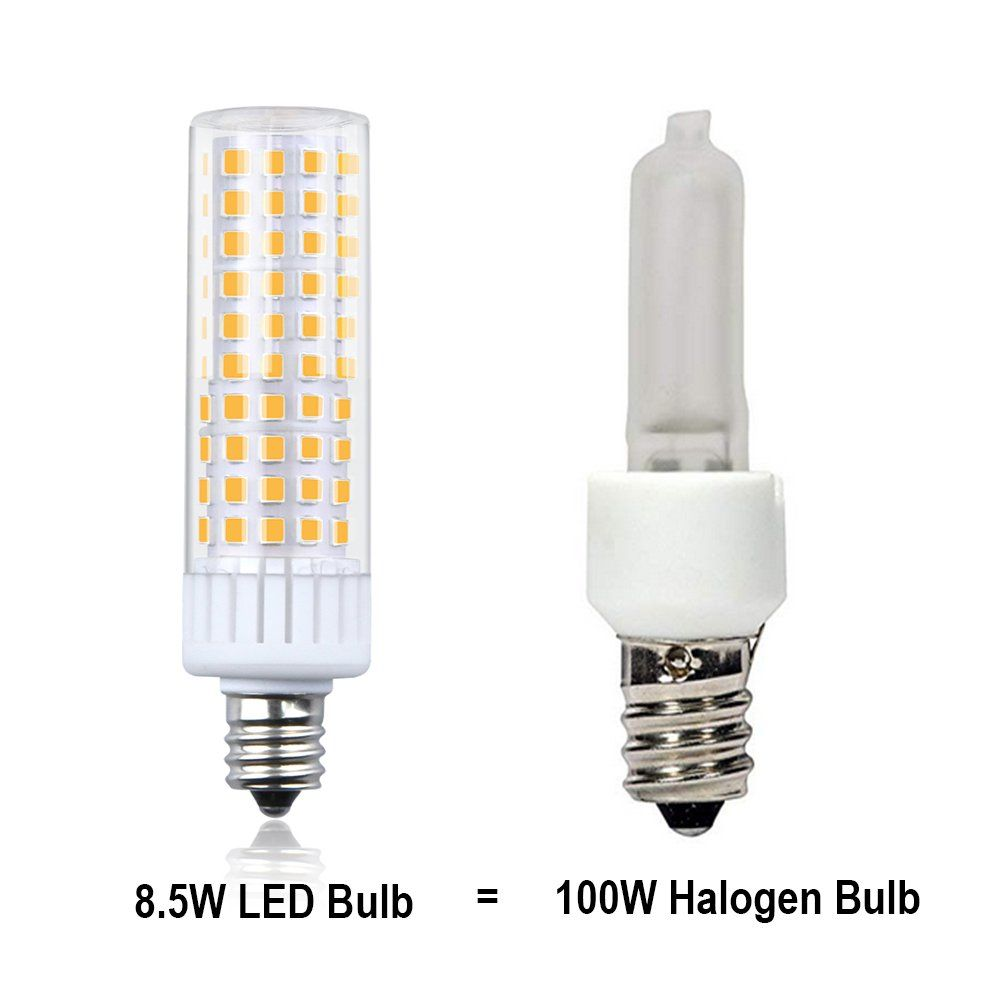 Aluxcia 85w E12 Led Light Bulb T3t4 Candelabra Base E12 Ceiling