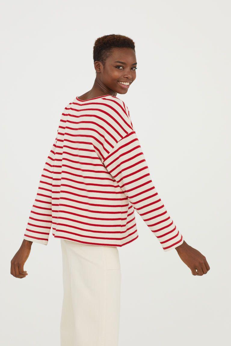 cc2df6d404 Pull - Écru/rouge rayé - FEMME | H&M BE 2 Pull, Fashion Trends