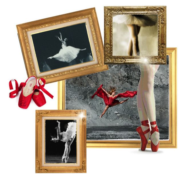 """The red shoes"" by eventyrdamen ❤ liked on Polyvore featuring art"