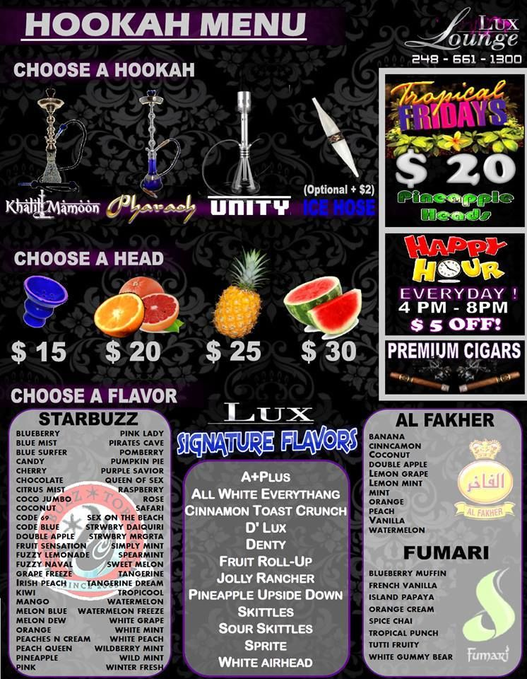Check Out Our Awesome Hookah Flavors You Can Also Get Any Of
