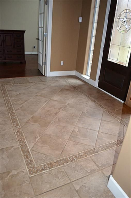 Entry tile home pinterest foyers tile flooring and for Entrance foyer tiles