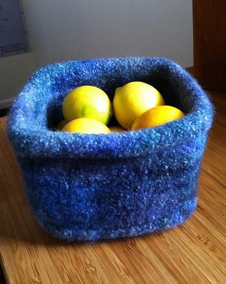 Spring Colored Felted Bowl By Sarah E White Malabrigo Rasta In
