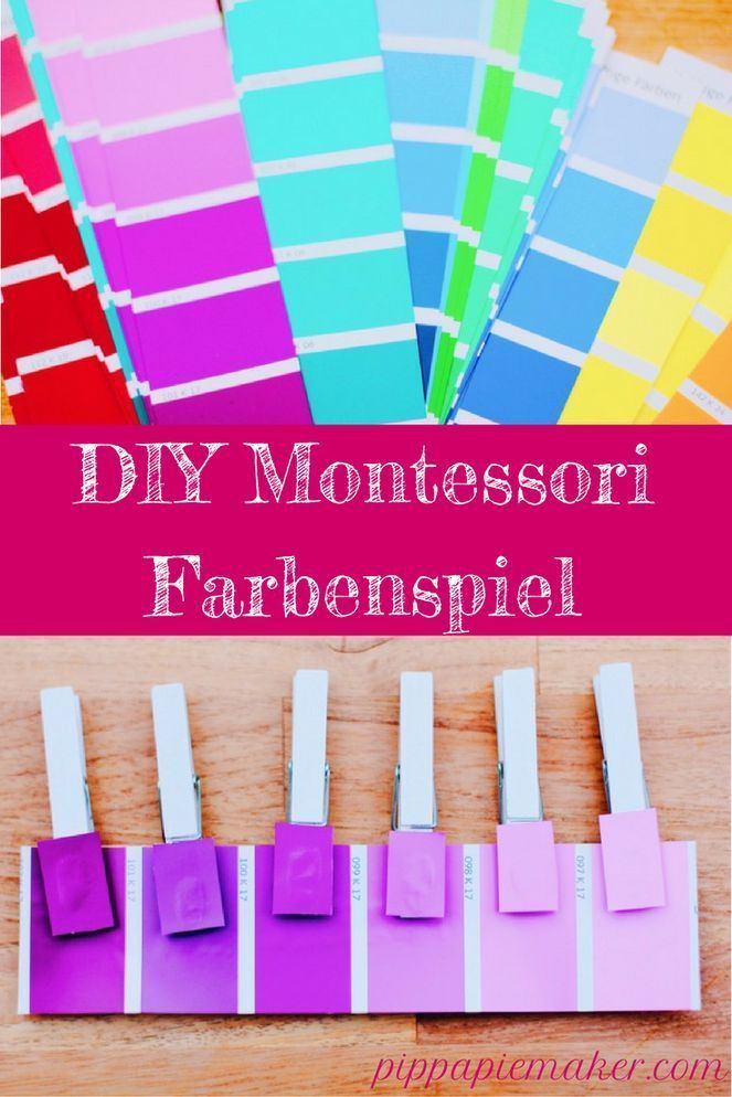 Montessori Farbenspiel - #Farben #Türen #Montessori #Spielen ,  #DIYSpielzeug #Farben #Farben... #montessoriselbstgemacht
