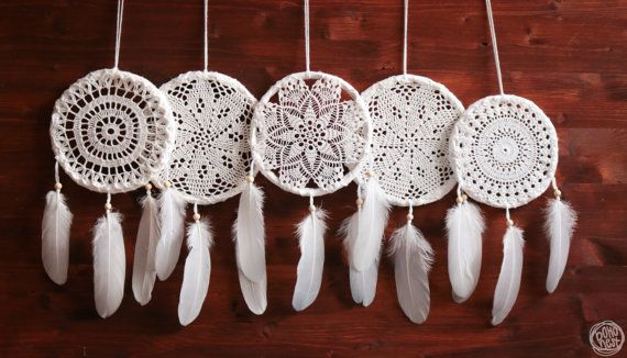 Wholesale Dream Catchers Fair Wholesale 5 Crochet Dream Catchers Boho Home Decorbohonest Inspiration