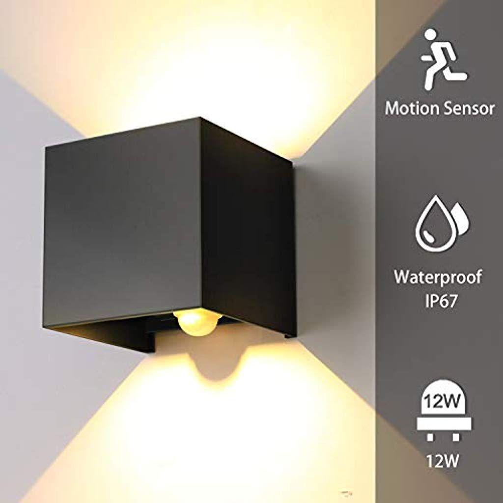 Lampadario Con Strisce Led encoft 12w applique da parete esterno interno con sensore di