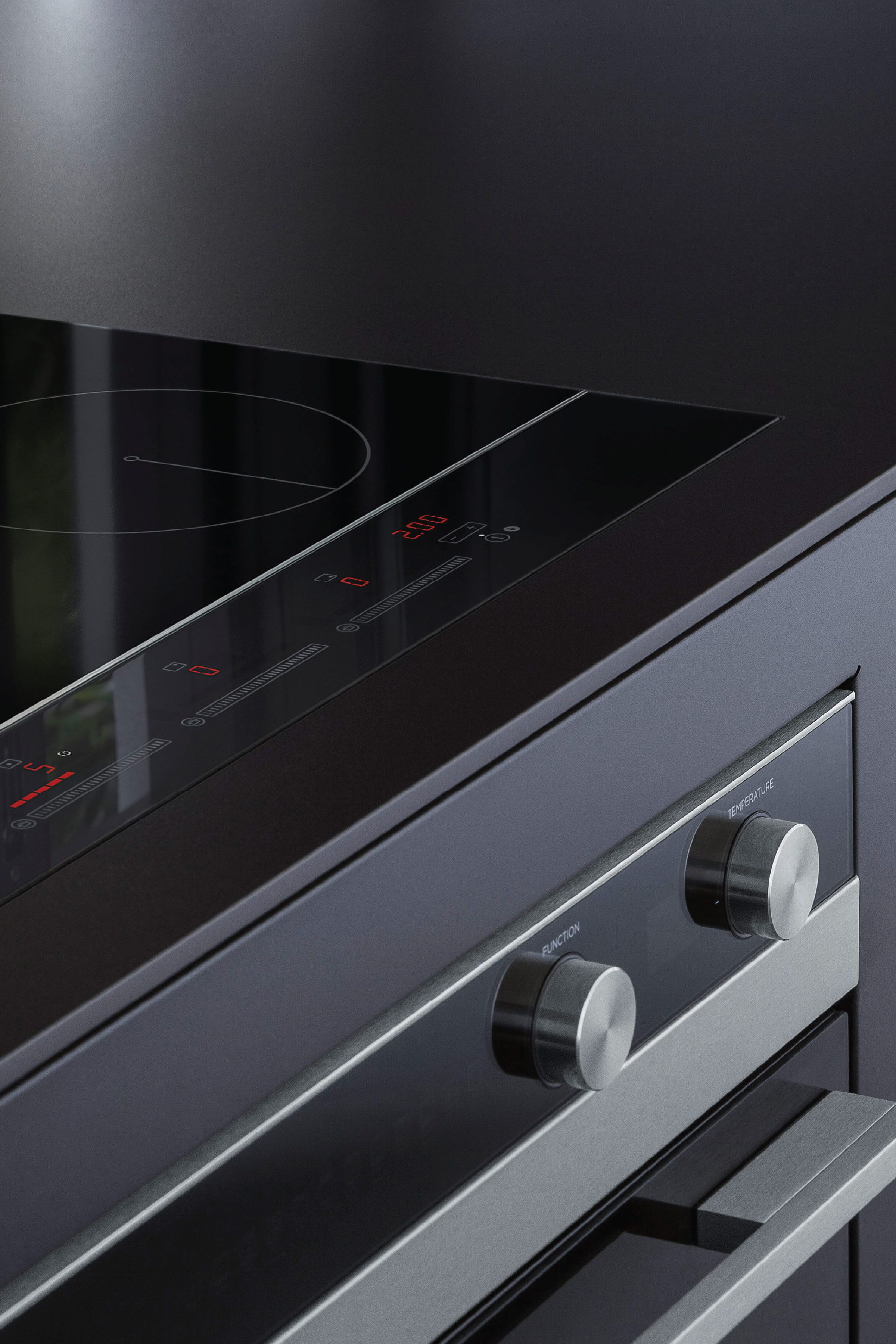The Fisher & Paykel Builtin Oven and Induction Cooktop