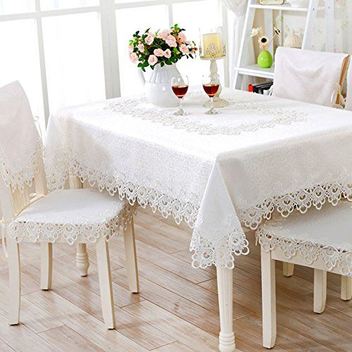 Table Cloth White Embroidered Tablecloth Openwork Lace Table Cloth