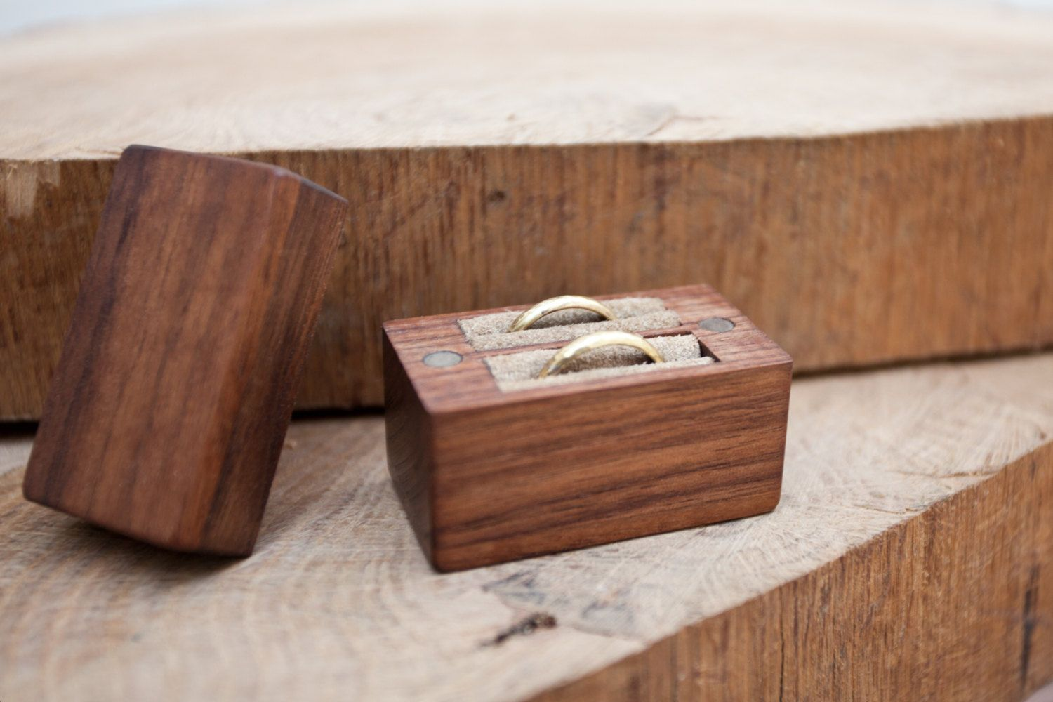 Wooden wedding ring box Ring bearer box Ring holder by