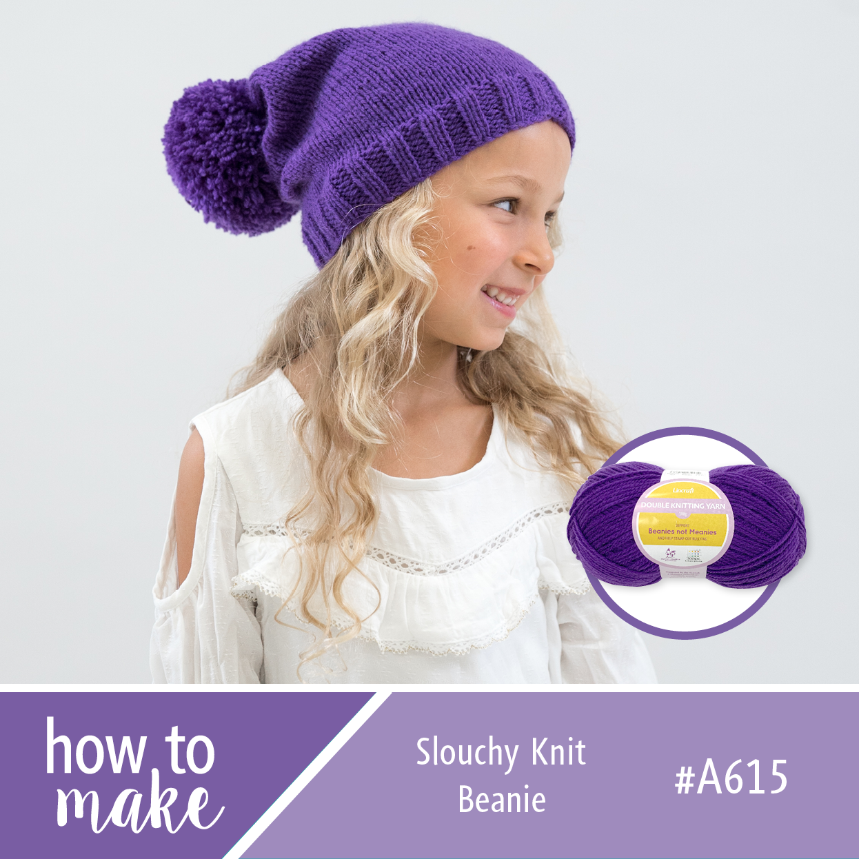 A615 Slouchy Knit Beanie For Beanies Not Meanies