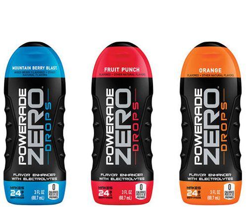 Powerade Zero Drops Shrink Sleeves Flavor Enhancers Drinks Brands Sports Drink