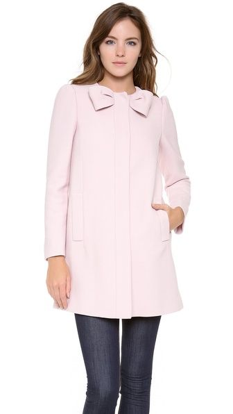 red valentino pink bow coat | 6am-mall.com