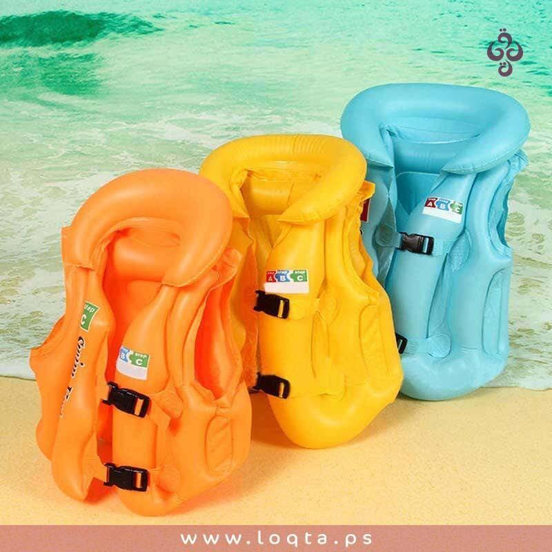 اجعليهم يستمتعون بصيفيهم بكل امان جاليه سباحة للأطفال نفخ 3 مقاسات ألوان الصيف الرائعة جودة عالية خفيف الوزن لخدمة Life Jacket Kids Swimming Life Vest