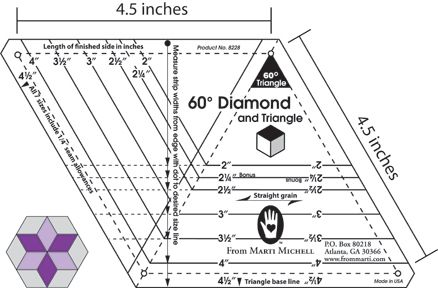 One-derful One Patch 60-Degree Template | Quilting Tools From ... : 60 degree ruler quilting - Adamdwight.com