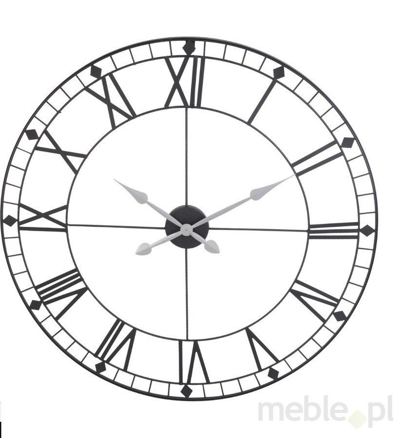Plug Inn Wall Clock Black