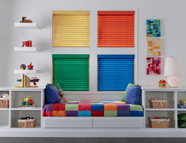 Five Tips To A Safe Playroom Budget Blinds Kid Room Decor Child Safe Window Treatments