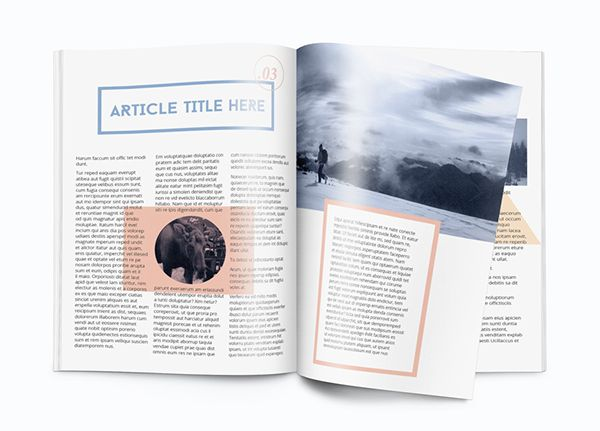 This is a non-corporate magazine or brochure template I created in ...