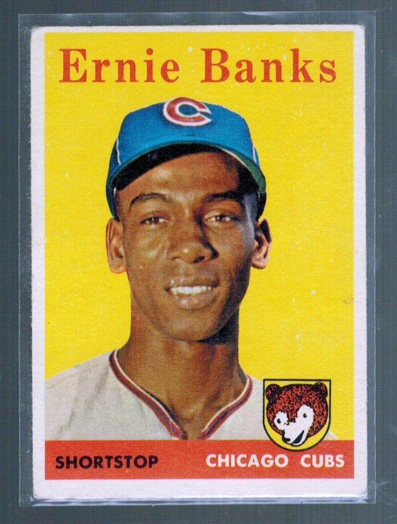ernie banks baseball card topps