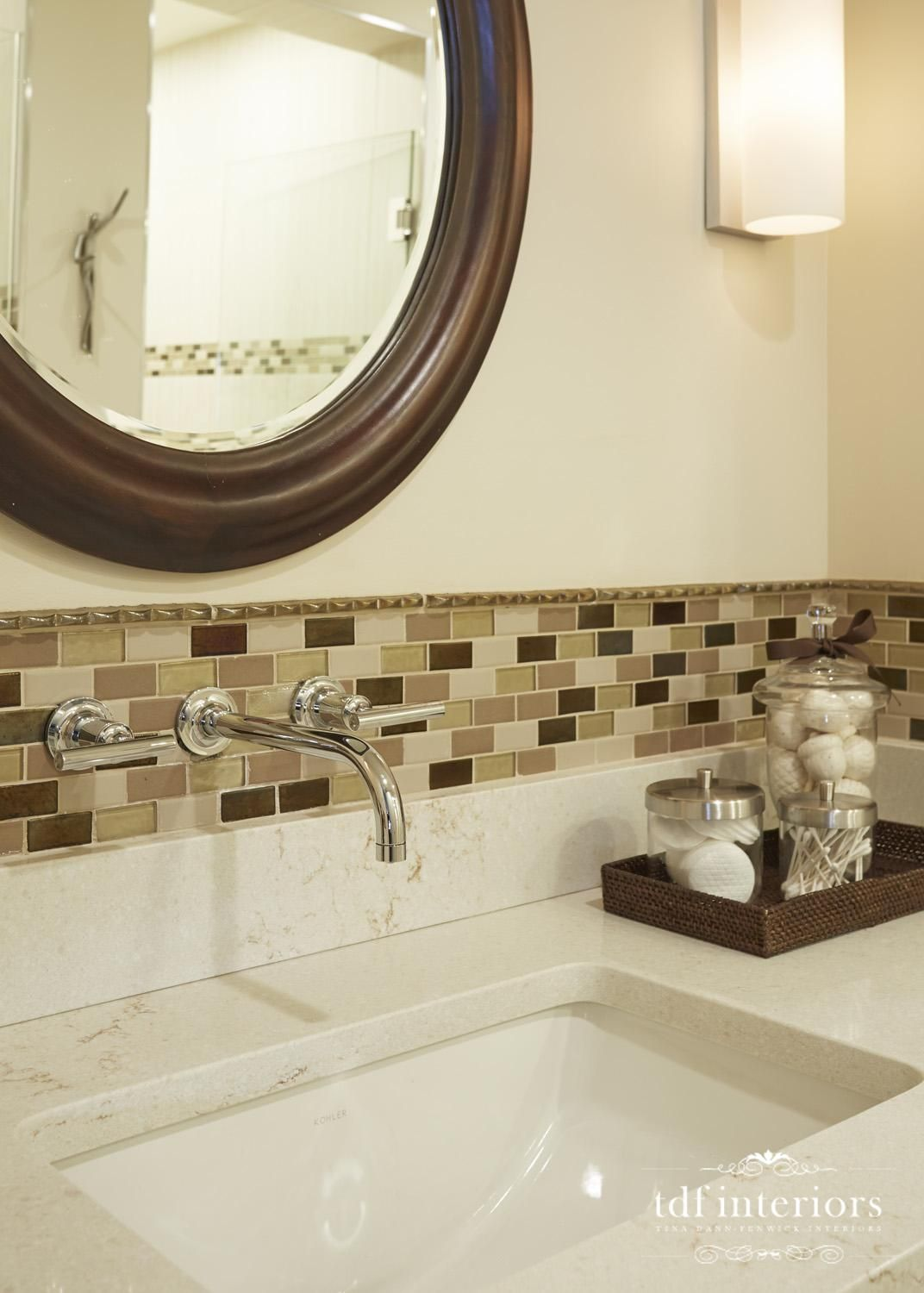 Contemporary style bathroom design in neutral colors on Chicago ...